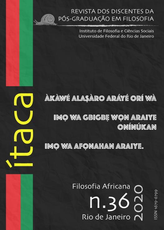 Revista Ítaca, edição especial de Filosofia Africana, 2020.